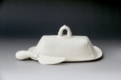"Functional - Trinka, Leilani - ""Butter Dish with Knife-full view"" - SOLD"