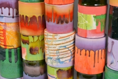 "Sculptural - Mabry, Lauren - ""Composition of Enclosed Cylinders (detail)"""