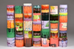 "Sculptural - Mabry, Lauren - ""Composition of Enclosed Cylinders (full view)"""